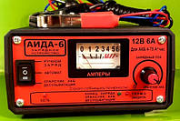 Зарядное АИДА-6 — автомат + ручной заряд + десульфатация для 12В АКБ  4-75 А*час, режим, фото 1