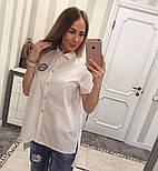 Женская красивая блуза с карманами удлиненная сзади (5 цветов), фото 2