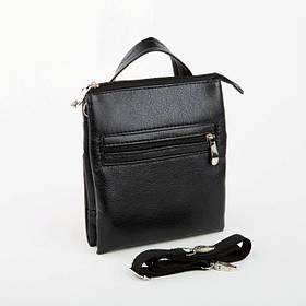 Мужская сумка Bred без клапана черная / сумочка на плечо