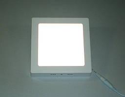 Светодиодный светильник Ecostrum 12W 4000К накладной квадрат