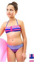 Яркий детский купальник Keyzi на размеры 152-164 модель Vanessa
