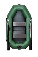 Двухместная надувная гребная лодка ΩMega 220LSТ(PS) с навесным транцем. Бесплатная доставка!