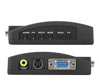 Конвертер AV S-Video TV на VGA (коробка зеленная )