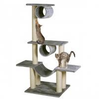 Когтеточка, игровой комплекс для кошек ВИКТОРИЯ Карли-Фламинго, многоуровневый, серый, 103*57*141см