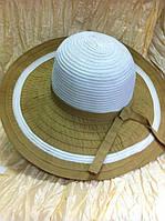 Шляпа  летняя двухцветная с большие поля