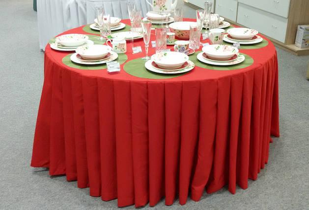 Скатерть круглая Банкетная, красная, фото 2
