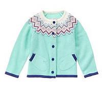 Кофта вязаная с карманами для девочек 2, 3, 4, 5 лет Mitten Cardigan Gymboree (США)