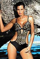 Купальник-монокини с леопардовым принтом (S-2XL)