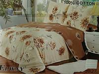 Сатиновое постельное белье семейное ELWAY 3827