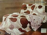 Сатиновое постельное белье семейное ELWAY 3840