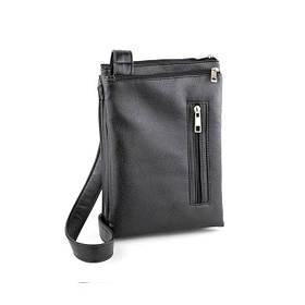 Сумка мужская Smith черный глянец размер  / сумочка на плечо