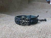 Кожаный браслет рука БАБОЧКА, ручная работа