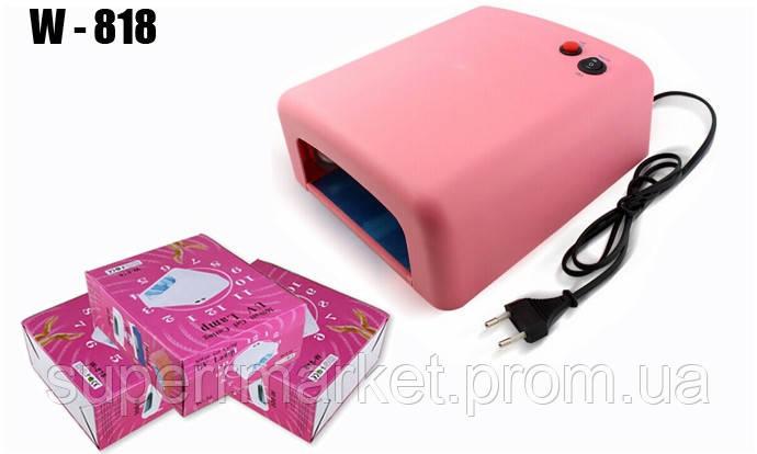 Ультрафиолетовая УФ лампа LeVole LV 818 36 Вт PINK