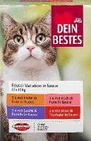 Корм для кошек Dein Bestes Nassfutter für Katzen, Vorteilspack Beutel in, 1200 g