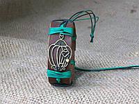 Кожаный браслет КЛЕТКА на руку, ручная работа