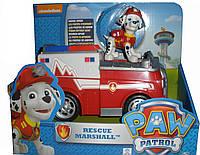 Спасательный автомобиль Pull-Back с фигуркой Маршал спасатель из серии Щенячий патруль