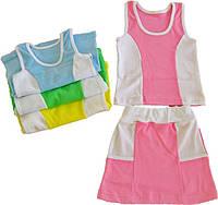 Комплект юбка+майка для девочек 56