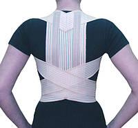 Ортез на грудной отдел позвоночника с рёбрами жесткости и широкой спинкой (Коректор осанки) - Аэро ОХ.11