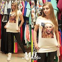 Платье-туника из вискозы Джульен молочная