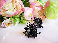 Тычинки чёрные 25 нитей (50 головок)