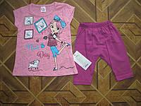 Детский летний костюм для девочки 92-104 см Турция