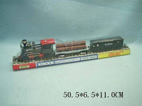 Паровоз батар 1804 307063R 48шт2 платформа с бревнами,вагон,под слюдой 50,56,511см