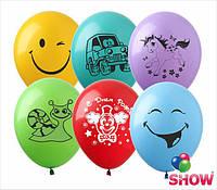 """Воздушные латексные шарики Детские рисунки Ассорти 12"""" 30 см ТМ Show"""