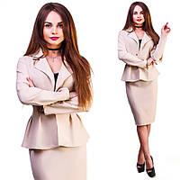 """Деловой женский костюм-двойка """"Amalia"""" с жакетом (6 цветов)"""