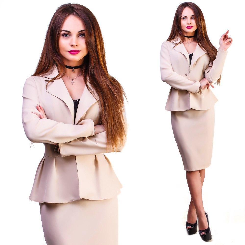 """Деловой женский костюм-двойка """"Amalia"""" с жакетом (5 цветов) - Интернет-магазин """"DioModa"""" в Одессе"""
