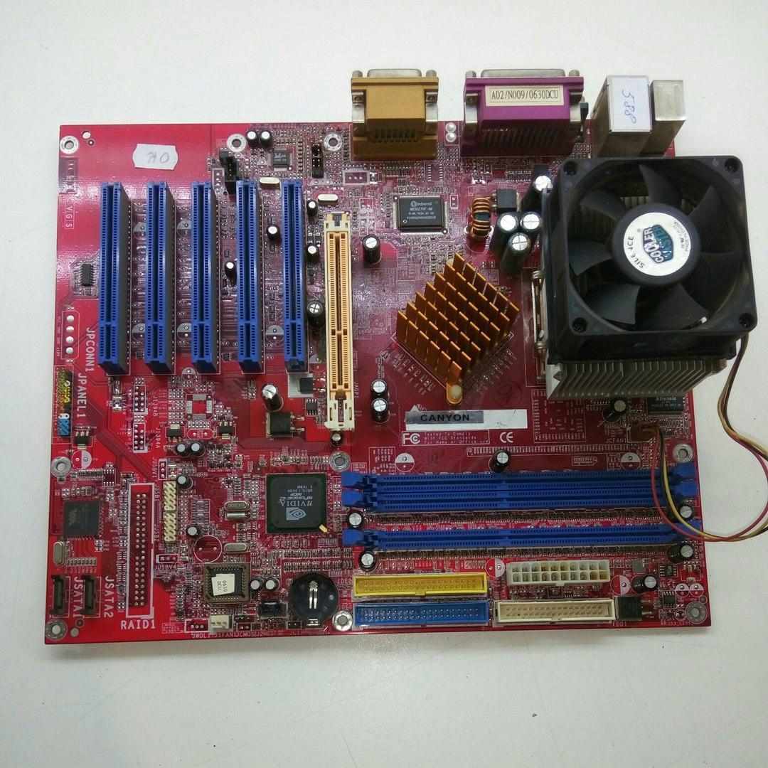 Материнская плата Canyon CN-7N0ALSR4 + процессора AMD Athlon XP 2500+