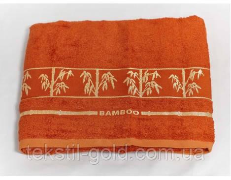 Полотенце бамбуковое 70х140 ARYA (Турция) Bonita (голубое, оранж)