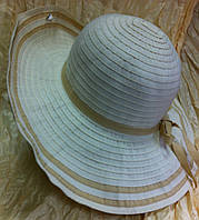 Белая шляпа женская средние поля
