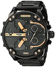 Мужские часы Diesel Brave, кварцевые, элитные часы Дизель Брейв, стальной ремешек, черные