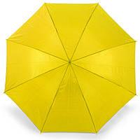 Зонт-трость 170Т полуавтомат, ручка , жёлтый, от 10 шт.