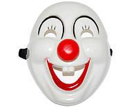 Карнавальная Пластиковая Маска Клоун Прикол для Вечеринки