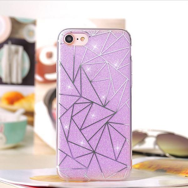 Чехол для iPhone 7 геометрия с блестками