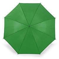 Зонт-трость 170Т полуавтомат, ручка , зеленый, от 10 шт.