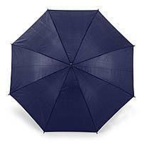 Зонт-трость 170Т полуавтомат, ручка , синий, от 10 шт.