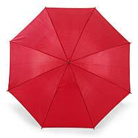Зонт-трость 170Т полуавтомат, ручка , красный, от 10 шт.