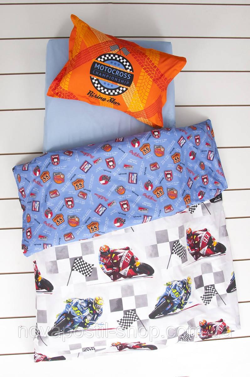 Комплект постельного белья KARACA HOМЕ MOTOCROSS MAVI