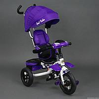 Велосипед BEST TRIKE 6699 фиолетовый (белая рама)