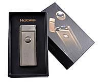 """Электроимпульсная USB зажигалка """"Nobilis"""" №4775-1, подарочная упаковка, модный и стильный гаджет, безотказная"""