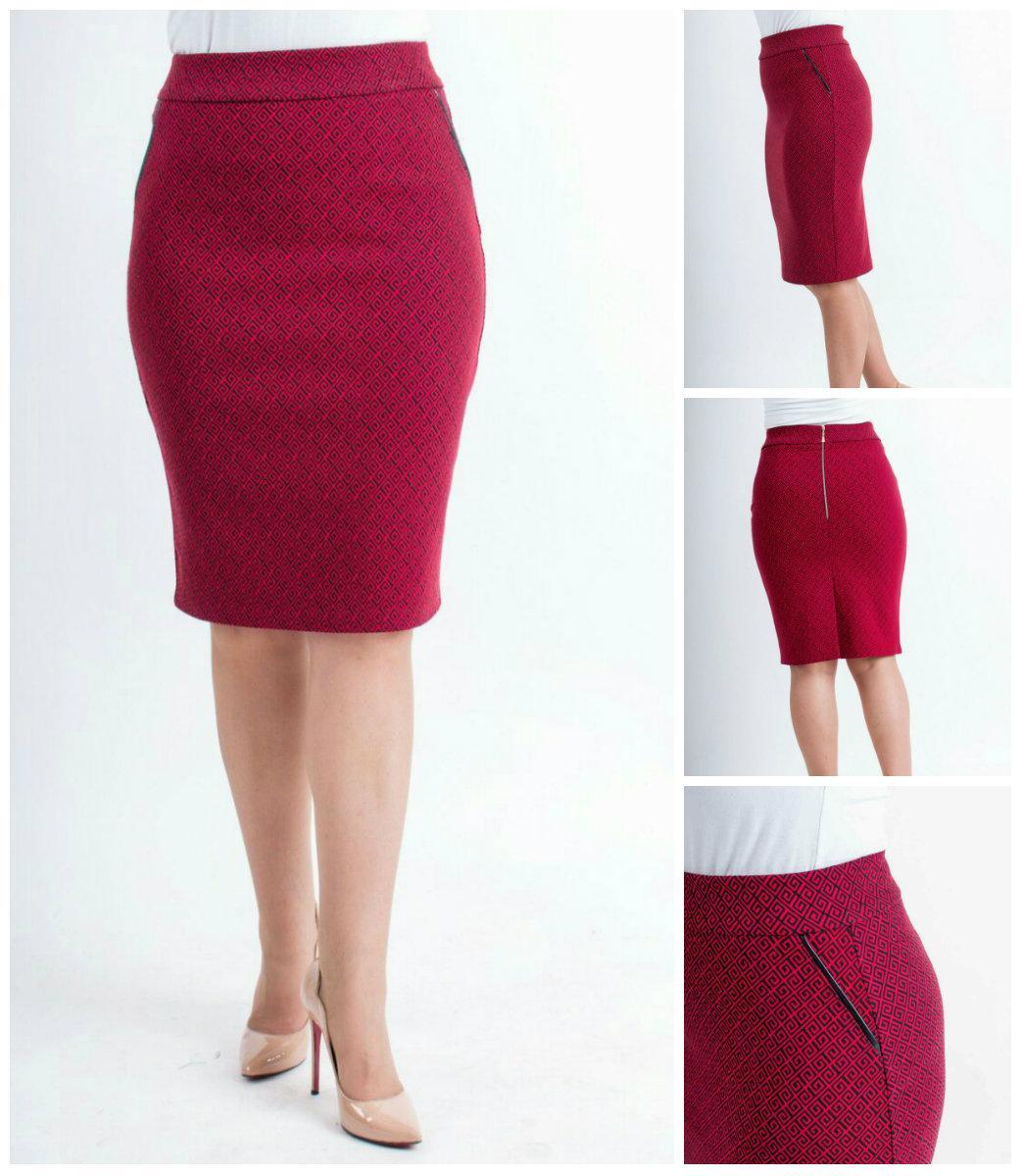Женская стильная юбка Илона прямая, р 42-52