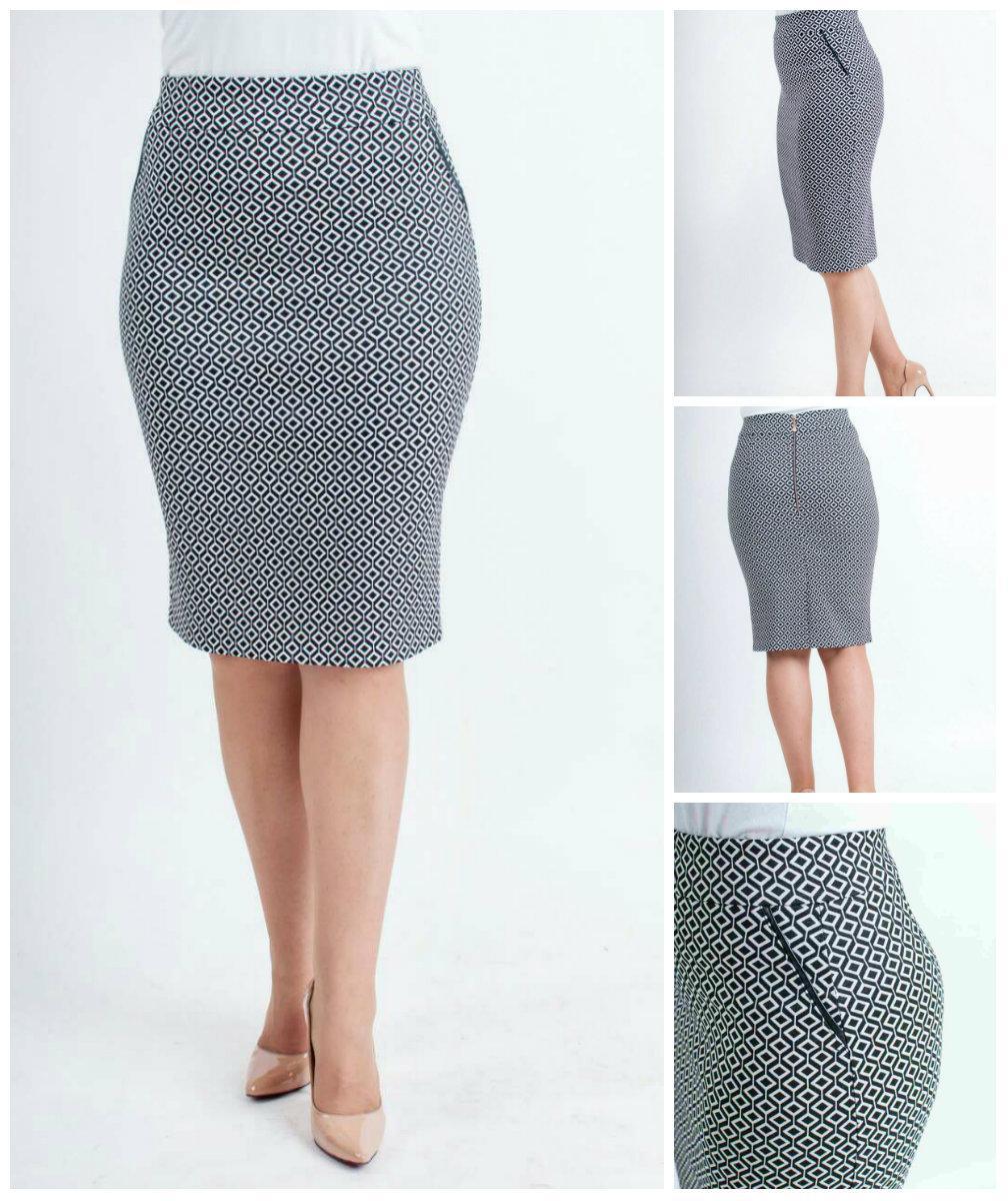 Женская стильная юбка прямая. 42-52