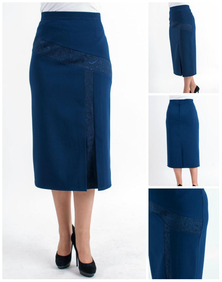 Женская юбка за колено больших батал. 64-70