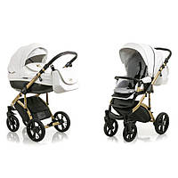 Коляска Mioobaby Zoom Royal Edition White-Gold