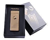 """Электроимпульсная USB зажигалка """"Nobilis"""" №4775-3, станет прекрасным подарком, поджигает все, принцип молнии"""