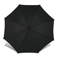 Зонт-трость, полуавтомат, ручка дерево, черный, от 10 шт