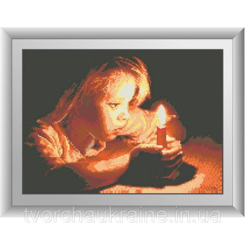 Девочка со свечой. Набор алмазной живописи (квадратные, полная)