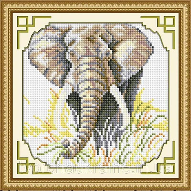 Слон. Набор алмазной живописи (квадратные, полная)